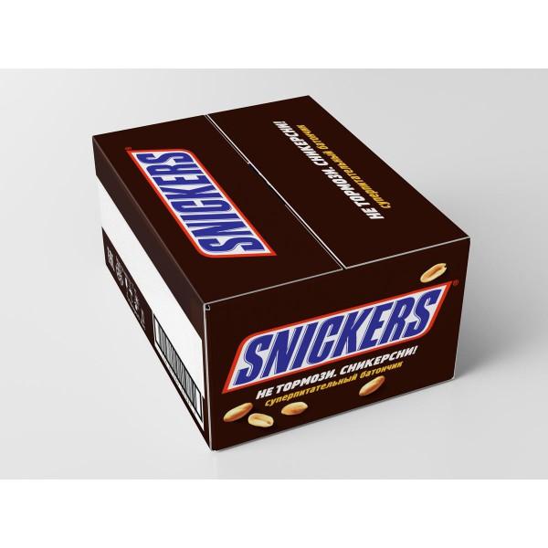 Сникерс шоколадный батончик 55г c6083f06b3d