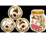 006г шоколадная фигурка ШОКОЛАДНАЯ МОНЕТА - СЕМЕЙКА БУФФИКОВ (9туб х 100шт) (натуральный шоколад)