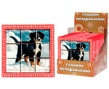 045г шоколадная фигурка НАБОР ПРЕМИУМ 3х3 ПАЗЛ (ДАВАЙ ДРУЖИТЬ !) (3бл. х 12шт) (натуральный шоколад)