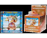 "045г шоколадная фигурка НАБОР ПРЕМИУМ 3х3 ПАЗЛ ""С НОВЫМ ГОДОМ"" (ДЕД МОРОЗ) (3бл. х 12шт) (натуральный шоколад)"