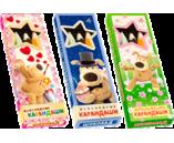 055г шоколадный НАБ. шоколадный ЦВЕТНЫХ КАРАНДАШЕЙ (СЕМЕЙКА БУФФИКОВ) (х 12шт) (натуральный шоколад)