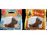 070г шоколадная фигурка СОБАЧКА КЛЯКСА в подароной упаковке (х 16шт) (натуральный шоколад)