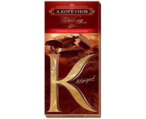 Горький шоколад Коркунов 50% 100г