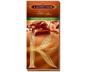 Молочный шоколад Коркунов с лесным орехом 100г
