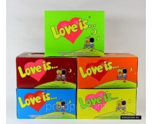 Love Is (Лав из) жевательная резинка 1/100шт/50г